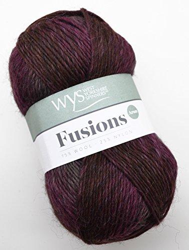 West Yorkshire Spinners Aire Valley aran Fusions 898 - moorland, 100g Wolle zum Stricken und Häkeln (Fusion Wolle)