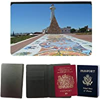 Cubierta del pasaporte de impresión de rayas // M00171070 Sud Africa Eastern Cape // Universal passport leather cover