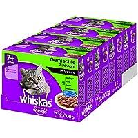 Whiskas Katzen-/Nassfutter Senior 7+ Gemischte Auswahl in Sauce, 48 Portionsbeutel (4 x 12 x 100g)