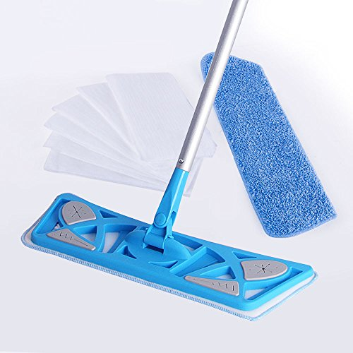 mr-siga-microfiber-flat-mop-included-2-microfiber-refills-and-6-dry-cloths-pad-size-43-x-21cm