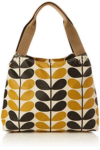 Orla Kiely - Classic Zip Shoulder Bag, Borse a Tracolla Donna Yellow (Dandelion)