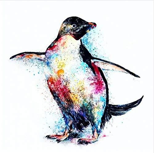 WACYDSD Malen Nach Zahlen Tanzender Pinguin DIY Einzigartiges Geschenk Handgemaltes Ölgemälde Für Hauptwanddekor Kunstwerke Frameless
