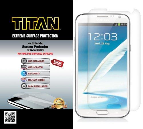 TITAN Displayschutzfolie für Samsung Galaxy Note II, bruchsicher, Kratzfest, frustfreie Verpackung, klar (Note Zagg 2 Samsung Galaxy)