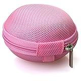 Transer® Bunte tragbare Mini Runde Lagerung Fall Tasche Für Kopfhörer-SD-TF-Karten Schutzhülle Case Cover Hülle Box Schutztasche für Kopfhörer Ohrhörer SD TF-Karten Kabel Bluetooth Kopfhörer