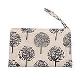Joyfeel Buy 1 Stücke Reißverschluss Geldbörse Damen Kleine Brieftasche Kosmetiktasche Segeltuch Münzen Beutel Münzbörse für Frauen Kind (Baum)