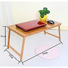 Escritorio de la computadora portátil, escritorio portátil del estudio plegable, escritorio de madera del cuaderno de bambú, escritorio simple de la computadora, para la cama o el sofá Mesa plegable ( Tamaño : 70*40*33cm )