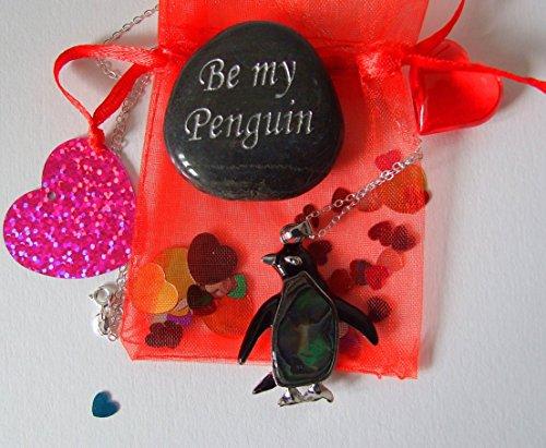 Preisvergleich Produktbild Kieselstein und Pinguin-Abalone-Anhänger