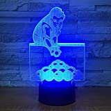 OSVD Table Tennis 3D Night Light Home Decoration Led Usb Table Lamp Amazing...