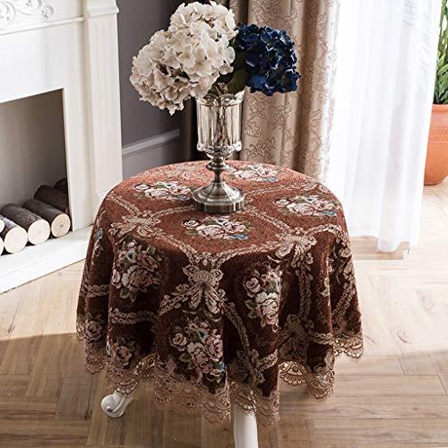 LSJT Runder Tischdecke Runder Tisch Tischdecke Stoff Tischdecke Tischdecke Couchtisch Tischdecke Runde (Farbe : B, größe : 120cm)