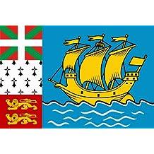 voiture art autocollant résistant aux intempéries drapeau Saint Pierre et Miquelon