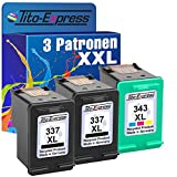 PlatinumSerie® Set 3x Druckerpatrone für HP 337 XL HP 343 XL Photosmart 4100 C4100 C4110 C4175 C4180 C4190