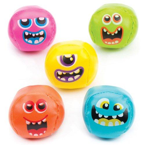 (Baker Ross Mini-Softbälle Weltraum-Monster als lustiges Spielzeug für Kinder zum günstigen Preis – perfekt als kleine Party-Überraschung für Kinder zu Halloween (5 Stück))