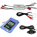 Best Pyle Mp3 Player For Cars - Waterproof Marine Pyle PLMRMP3A 4Channel Amplifier with 3.5mm Review