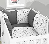 Tour de lit composé de 6 coussins pour lit de bébé 60 x 120 cm