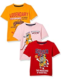 Cherokee Boys' Plain Regular Fit T-Shirt (Pack of 3)