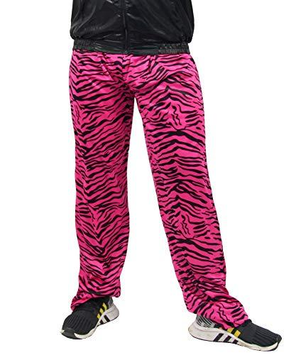 Trainingsanzug Jahre 80er Kostüm - Foxxeo Jogginghose 80er Jahre Kostüm Trainingsanzug Assianzug Jogginganzug Retro schwarz pink S - XXXL, Größe:XXL/XXXL