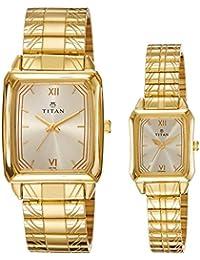Titan Bandhan Analog Silver Dial Couple's Watch - NE15812488YM02