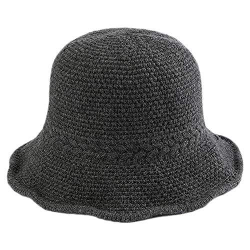Demarkt Damen Mode Filzhut Fischerhut Winterhut Mütze schönes Schmuck und Geschenk für Mutter Kopfumfang von etwa 57cm