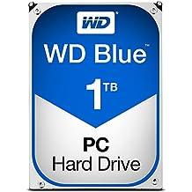 """WD Blue - Disco duro para ordenadores de sobremesa de 1 TB (5400 rpm, SATA a 6 Gb/s, 64 MB de caché, 3,5"""") azul"""