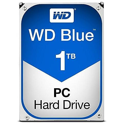 WD Blue WD10EZEX 1 TB Interne Festplatte (8,9 cm (3,5 Zoll), SATA 6 Gb/s (Sata Disk Drive)