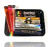 Mini plateau à rouler - Snoop Dogg papier à rouler Bob Marley Grinder Rizla Tube à cigarettes