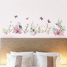 Pegatina pared diseño flores para salon dormitorio comedor cuartos de niñas de OPEN BUY