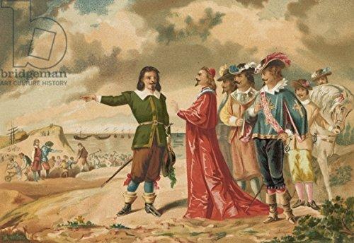 "Alu-Dibond-Bild 120 x 80 cm: ""Gerard Desargues and Cardinal Richelieu at La Rochelle"", Bild auf Alu-Dibond"