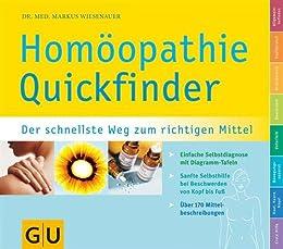 Quickfinder  Homöopathie (GU Quickfinder) von [Wiesenauer, Markus]
