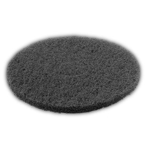 5 Stück 16 Zoll Schleifpad Ø 406 mm, 20 mm stark, für Einscheibenmaschinen (schwarz)
