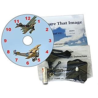 DIY CD Clock Kit - WW1 Flying Aces, Wall or Desk Clock