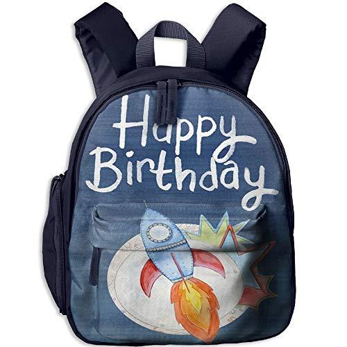 Happy Birthday Toddler Kids Pre School Bag Cute 3D Print Children School Backpack (Happy Steelers Birthday)