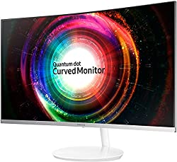 Samsung LC32H711QEUXEN 32-Inch WQHD 2560 x 1440 3 Side Bezel-Less Curved Monitor - Metallic Silver