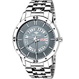 #4: Eddy Hager Grey Day and Date Men's Watch EH-211-GR