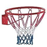 WICKEY Basketballring Basketballkorb Zubehör Outdoor, Ø450mm, Metallring mit Netz