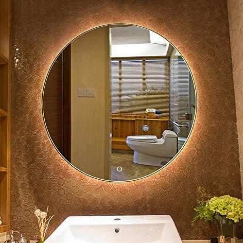 Espejo para BañO con IluminacióN Led Luz De Pared Iluminado Redondo Maquillaje CosméTico Tocador Interruptor Tactil Anti Niebla