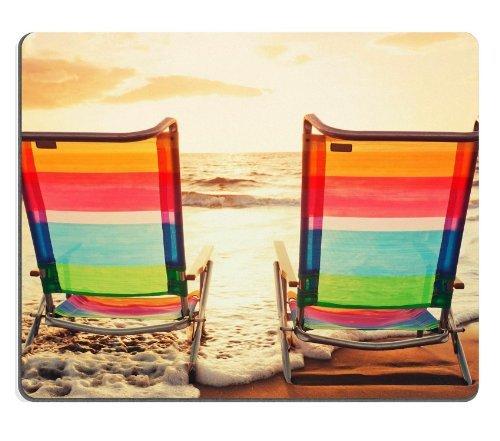 Preisvergleich Produktbild Just Relax Strandkörbe Urlaub Maus Pads mit Designs Mousepads für Frauen 19,1x 22,9cm