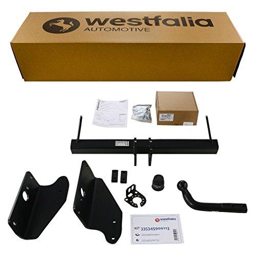 Starre Westfalia Anhängerkupplung für Avensis Wagon-Kombi T27 (BJ ab 01/09) im Set mit 13-poligem fahrzeugspezifischen Westfalia Elektrosatz