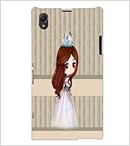 PrintDhaba Princess Doll D-3841 Back Case Cover for SONY XPERIA Z1 (Multi-Coloured)