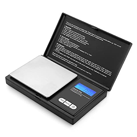 Digital Pocket Scale Akale [200g Capacity - 0.01g Accuracy] with Back-Lit LCD Screen & Tare Function -