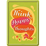 Nostalgic-Art 10244 Word Up - Think Happy Thoughts, Blechpostkarte 10x14 cm
