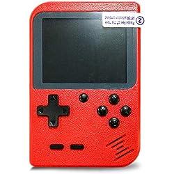 Flybiz Consoles De Jeux Portable, Console de Jeu Retro FC, Console de Jeu vidéo pour système de Divertissement, 3 Pouces 400 Classique Jeux, Chargement USB, Grand Cadeau pour Les Enfants (Rouge)