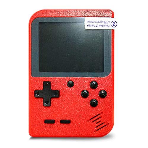 Flybiz Console di Gioco Portatile, Console retrò FC, Console di Gioco Retro LCD Classico da 3,0 Pollici, 400 Giochi Retro FC Game Player Console per Videogiochi con Carica USB per Bambini Amici(rosso)