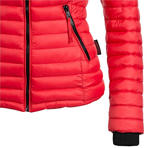 Navahoo Damen Jacke Übergangsjacke Steppjacke Kimuk 15 Farben XS-XXL Coral