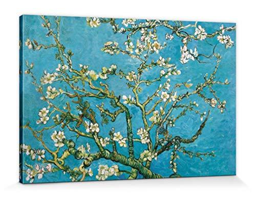1art1 57147 Vincent Van Gogh - Blühende Mandelbaumzweige, 1890 Leinwandbild Auf Keilrahmen 120 x 80 cm -