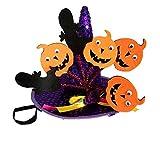 BulzEU - Gorro de Bruja para Halloween para Perros pequeños y Gatos, Calabaza para Mascotas, araña, Gorra para Disfraz, Fiesta de Disfraces, Disfraz de Navidad