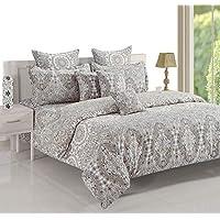 Swayam Queen Cotton Graphic Pattern, Bedding Set, Multi-Colour, 11023
