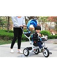 Triciclo Baby Carriage Bicicleta de juguete infantil Trolley Bicicleta de rueda inflable 3 ruedas, asiento giratorio (Niño / Niña, 1-3-5 años de edad)