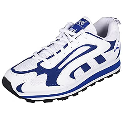 Lakhani Men's White & Cobalt Blue Synthetic Running Sports Shoes 10