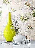 Tapete Natur Tiere Blumen Vögel | schöne edle Tapete im natürlichen Design | moderne 3D Optik für Wohnzimmer, Schlafzimmer oder Küche inkl. Newroom-Tapezier-Profibroschüre mit super Tipps!