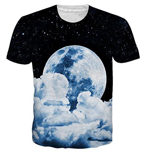 Goodstoworld 3D T Shirt Cat Pizza Druck Herren Damen Printed Sommer Lustig Hippie Beiläufige Kurzarm T-Shirts Tshirt L